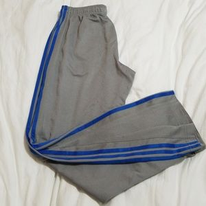 Mens Activewear Addidas Lt. Gray/Blue Pant Sz M